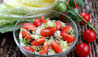 Капустный салат с авокадо и помидорами рецепт